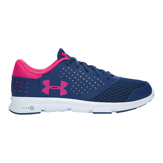 caa16b8b Under Armour Girls' Micro G Rave Grade School Running Shoes - Navy ...