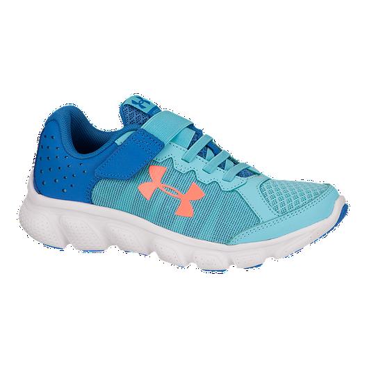 1ca865a0d3 Under Armour Girls  Assert 6 AC Preschool Running Shoes - Blue Orange