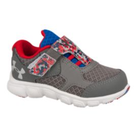 Under Armour Toddler Thrill Run AC Running Shoes - Graphite/White/Red