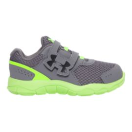 Under Armour Toddler Engage BL 3 Running Shoes - Graphite/Green/Black