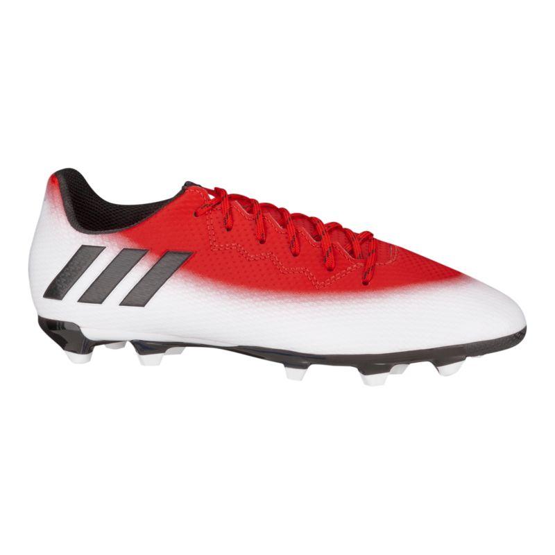 Adidas Kidsu0026#39; Messi 16.3 FG Grade School Outdoor Soccer Cleats - Red/White | Sport Chek