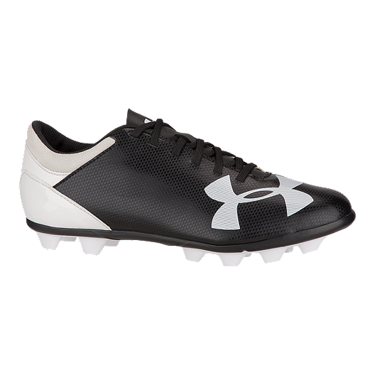 8d3e9f5df33b Under Armour Kids' Spotlight DL FG Outdoor Soccer Cleats - Black/White |  Sport Chek