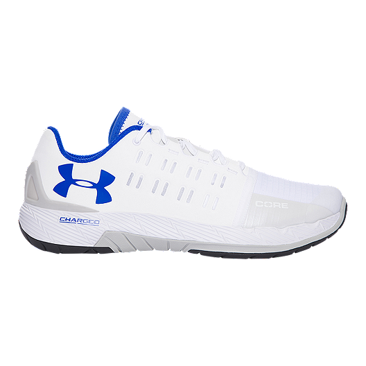 low priced c433a 511a5 Under Armour Men's Charged Core Training Shoes - White/Blue ...