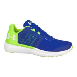Under Armour Kids' Micro G Fuel Grade School Running Shoes - Blue/Green/White
