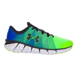 Under Armour Kids' X Level ScramJet Grade School Running Shoes - Green/Blue/Black