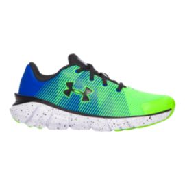 Under Armour Kids' X Level ScramJet Preschool Running Shoes - Green/Blue/Black
