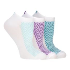Diadora Women's Zigzag No Show Socks 3 - Pack
