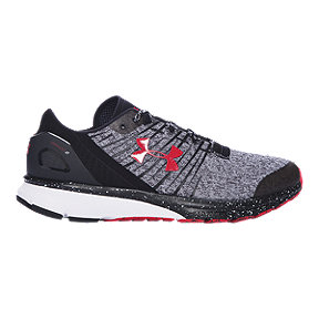 Under Armour Men's Charged Bandit 2 Running Shoes - Heather Grey/Black/Red
