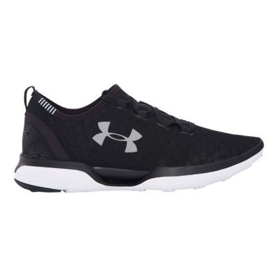 Under Armour Men's Charged CoolSwitch RN Running Shoes - Black/White