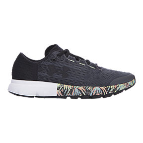 Under Armour Women's SpeedForm® Velociti Record-Equipped Running Shoes - Dark Grey/Mint Pattern