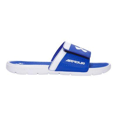 Under Armour Men's PlayMaker AS VI SL Sandals - White/Blue