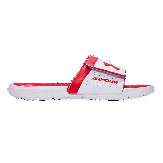 eeb10e9341b Under Armour Men s PlayMaker AS VI SL Sandals - White Red Black ...