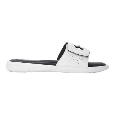 Under Armour Men's Ignite V SL Sandals - White/Black