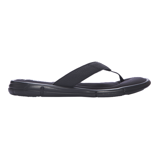 5333037395c0 Under Armour Men s Ignite II Thong Sandals - Black Silver