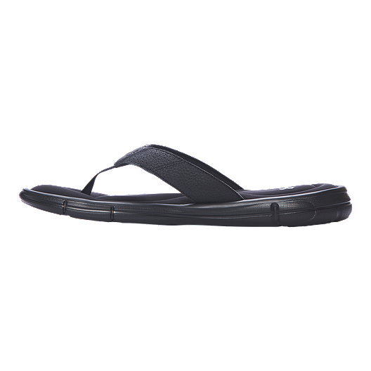 06591a9f42 Under Armour Men's Ignite II Thong Sandals - Black/Silver