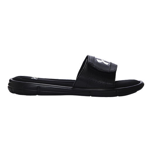 a1f61c499587 Under Armour Men's Ignite V SL Sandals - Black/White | Sport Chek