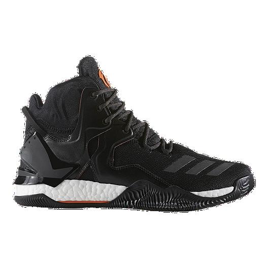 2ee1e0829b84 adidas Men s D Rose 7 Basketball Shoes - Black Orange