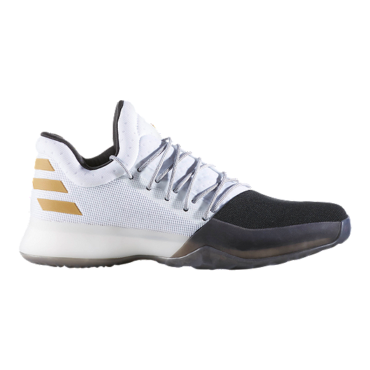 3b37600519c0 adidas Men s Harden Vol. 1 Basketball Shoes - White Black Gold ...