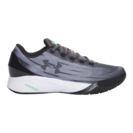 Under Armour Kids' BB Low Threadborne Para Basketball Shoes - Grey/Black