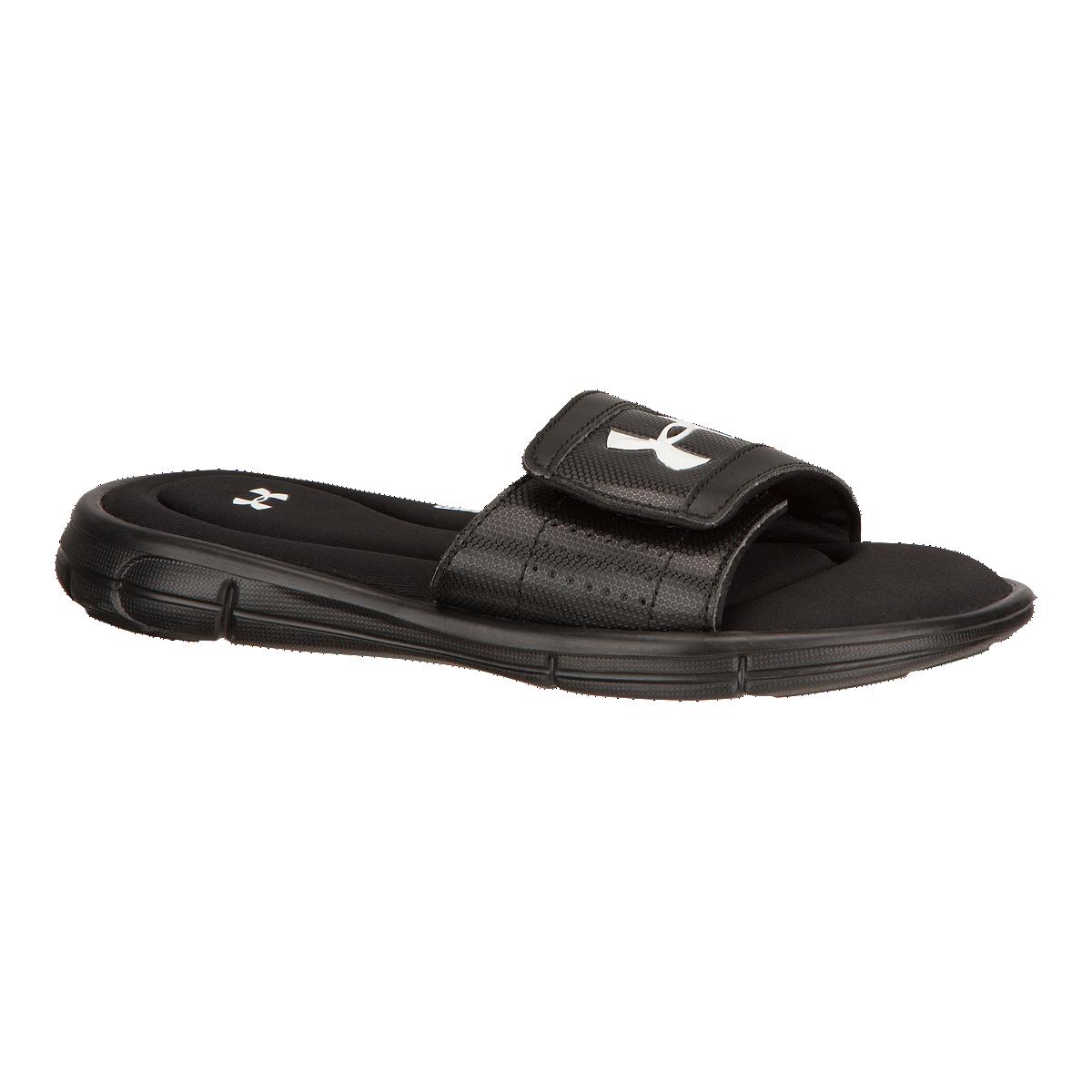 92b8ba29a Under Armour Kids' Ignite V SL Sandals - Black/White   Sport Chek