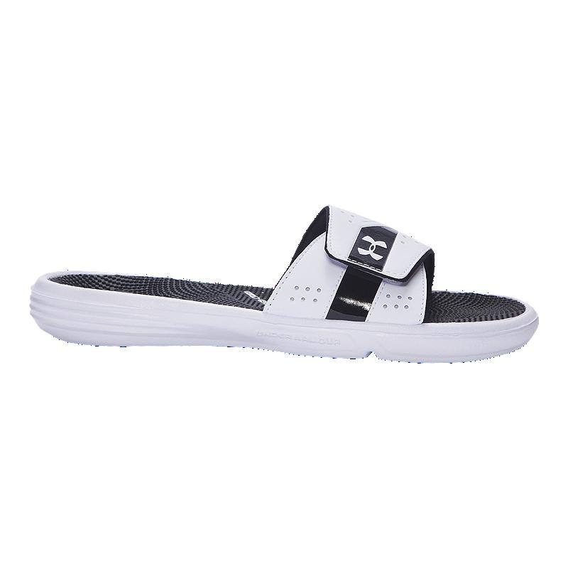 39487ef574a931 Under Armour Women s Micro G EV III SL Sandals - White Black