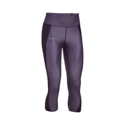 Under Armour Women's Run Fly By Shift Triangles All Over Print Capri Tights