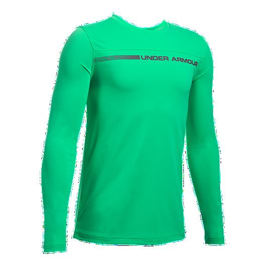 34015bb829 Under Armour Boys' Sunblock Long Sleeve Shirt | Sport Chek
