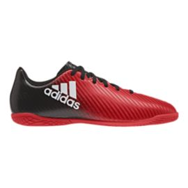 adidas Kids' X 15.4 IN Indoor Soccer Shoes - Red/Black/White