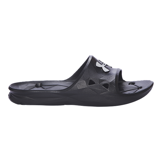 2aa93bcd690e7e Under Armour Men s Locker III Slide Sandals - Black Silver