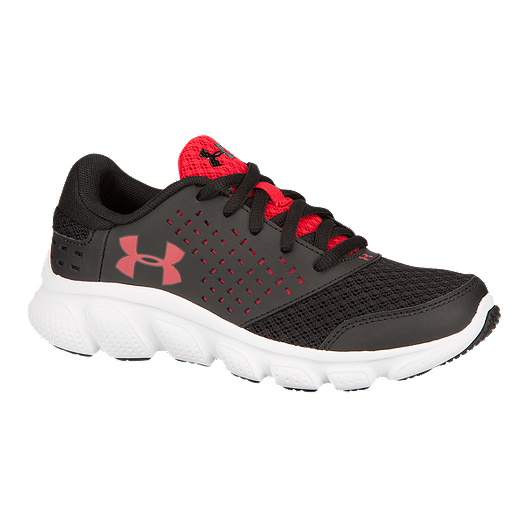 4e87a407 Under Armour Kids' Micro G Rave Grade School Running Shoes - Black ...