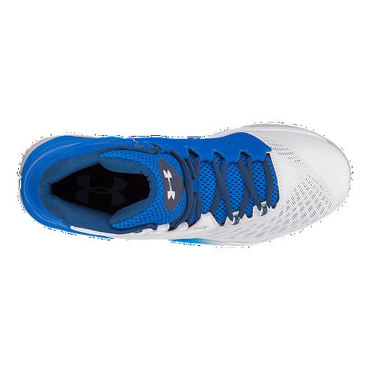 f05a4c5f735 Under Armour Men s Longshot Basketball Shoes - White Blue. (4). View  Description