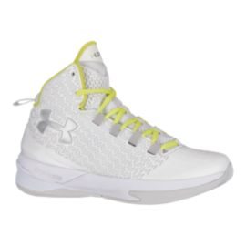Under Armour Women's ClutchFit Drive III Basketball Shoes - White/Yellow