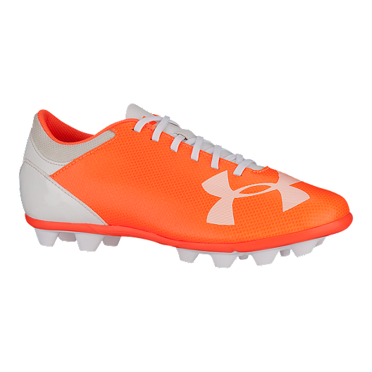 a5d4be1db Under Armour Girls  Spotlight DL FG Outdoor Soccer Cleats - Orange White