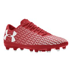 44faafc4c image of Under Armour Men s ClutchFit Force 3.0 FG Outdoor Soccer Cleats -  Red White