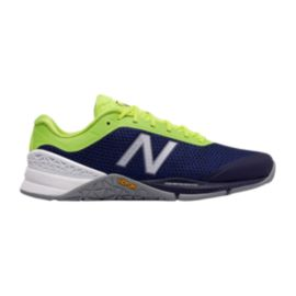 New Balance Men's 40 D Training Shoes - Blue/Lime Green/Grey