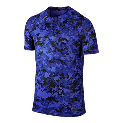 Nike Pro Men's Hypercool Digi Camo Fitted Short Sleeve Shirt