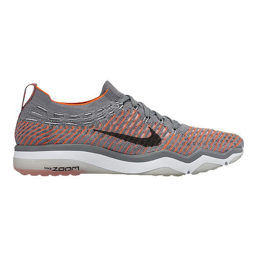 54f526254ca9 Nike Women s Air Zoom Fearless FlyKnit Training Shoes - Grey Orange ...