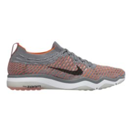 4f395c87be6d0c Nike Women s Air Zoom Fearless FlyKnit Training Shoes - Grey Orange ...