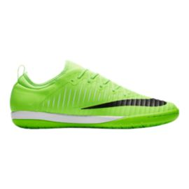 Nike Men's Mercurial Finale II Indoor Soccer Shoes - Lime Green/Black/White
