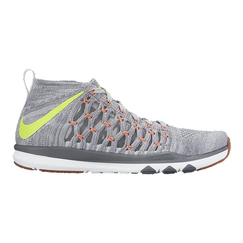 Pornografía sector protesta  Nike Men's Train UltraFast FlyKnit Training Shoes - Grey/Orange | Sport Chek
