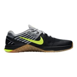 Nike Men's Metcon DSX FlyKnit Training Shoes - Black/Volt Green/Gum