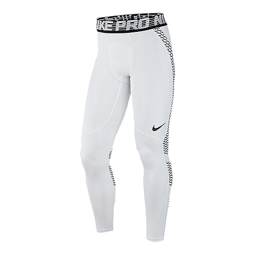 1d380ab8812c3 Nike Pro Men's Hypercool Tights - 100 WHITE/BLACK