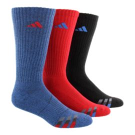 adidas Men's Cushioned Colour Crew Socks- 3 - Pack