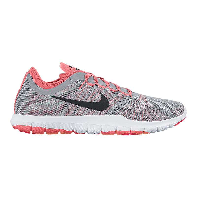 cd9fe8e61630 Nike Women s Flex Adapt TR Training Shoes - Grey Pattern Pink ...