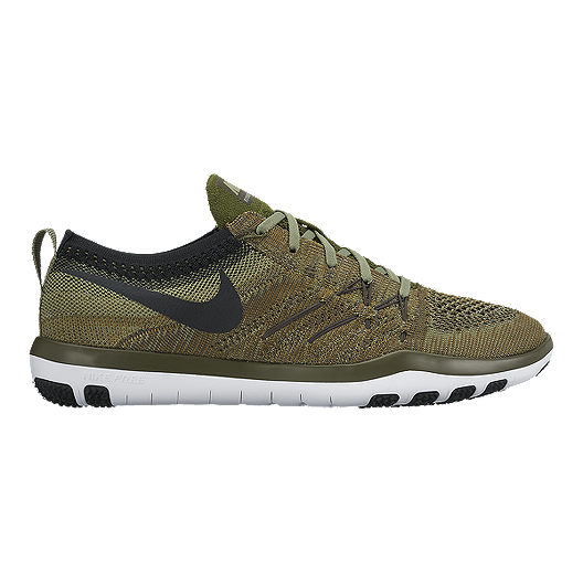 d49994e948bc3 Nike Women's Free TR Focus FlyKnit Training Shoes - Olive Green/Black |  Sport Chek
