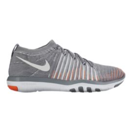 Nike Women's Free Transform FlyKnit Training Shoes - Grey/Orange
