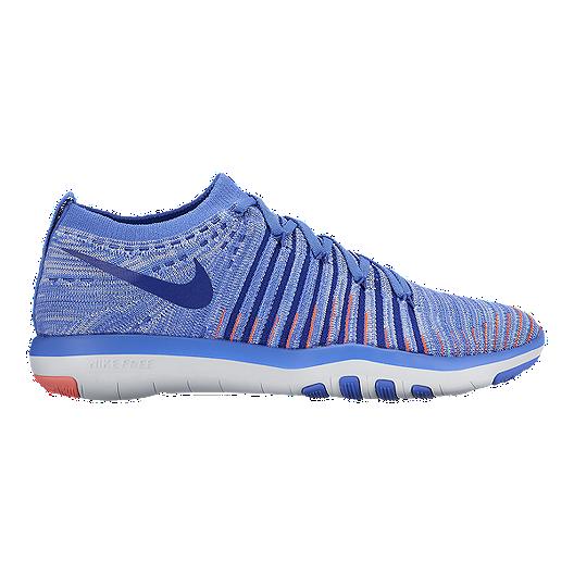 quality design 275d9 92db4 Nike Women s Free Transform FlyKnit Training Shoes - Blue White Orange    Sport Chek
