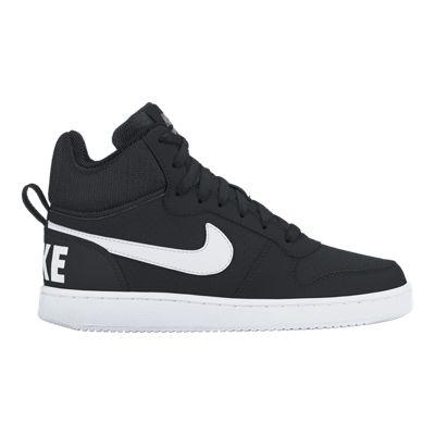 Nike Men's Court Borough Mid Shoes - Black/White