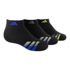 adidas Kids' Cushioned Low Cut Socks- 3 - Pack