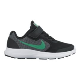 Nike Kids' Revolution 3 Preschool Running Shoes - Black/Green/Grey